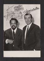 PHOTO . Sportifs Toujours . Dr. A. BOMBARD . L. BOBET . Autographes (imprimés) - Photographs