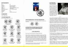 B01-176 2663 BD Feuillet De La Poste FDC Rare Chlorophyl Chlorophylle Macherot Raymond 5-10-1996 Brussel 1000 Bruxel - Documents Of Postal Services