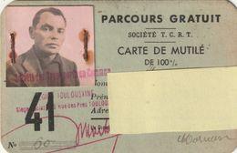 -toulouse--haute Garonne---31---carte De Mutilé--parcours Gratuit Sté Transports En Commun - Old Paper