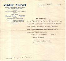 CIRQUE HIVER BOUGLIONE . 1936 .APPROBATION DU REGLEMENT - Documents Historiques