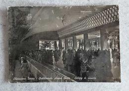 Cartolina Illustrata Chianciano Terme - Stabilimento Acqua Santa - Salone Di Mescita, Per Bologna 1959 - Italie