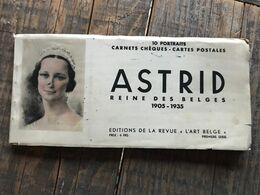 """ASTRID Reine Des Belges 1905 1935 10 Portraits Carnets Chèques Cartes Postales Ed. Revue """"L'Art Belge"""" Première Série - Familles Royales"""