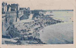 35 SAINT MALO La Plage De Bon-Secours à Marée Haute - Animée - Saint Malo