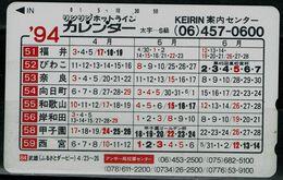 JAPAN 1994 THE CALENDAR USED VF!! - Japon