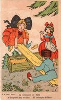 La Balançoire De Hans. F.N. édit., Paris. Carte Souple Légèrement Dentelée Sur Les Côtés. Signée C.R . - Illustratori & Fotografie
