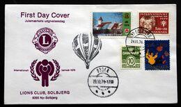Denmark 1979 Lions Club,Solbjerg - Odder  FDC (lot  243) - Denmark