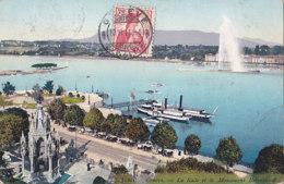 Genève (Suisse) - La Rade Et Le Monument Brunswick - GE Genève