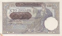 Yougoslavie : 100 Dinara 1941 Beograd UNC (dommage 1 Tache) - Joegoslavië