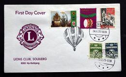 Denmark 1977 Lions Club,Solbjerg - Odder  FDC (lot  246) - Denmark