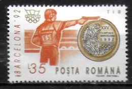 ROUMANIE     ( BF 226 ) * *  JO 1992  Tir - Shooting (Weapons)