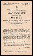 Oorlogsslachtoffer: 1940: Oud-Turnhout, Leo Peeters, Broeckx - Andachtsbilder