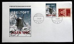 Denmark 1980 Christmas EBELTOFT  FDC (lot  248) - Denmark