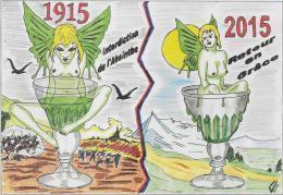 25.- MONTBELIARD .- 35e Salon De La Carte Postale  L' ABSINTHE Retour En Grace ( Jacques Migot ) - Collector Fairs & Bourses