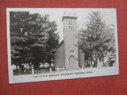 RPPC The Little Brown Church  Nashua - Iowa >  Ref 4269 - Etats-Unis