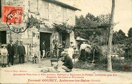 TOP PEU COMMUNE ! ANDERNOS 1909 ARTISAN FERNAND GOUBET PUITS ARTESIENS THEMES COMMERCE BASSIN ARCACHON GIRONDE - France