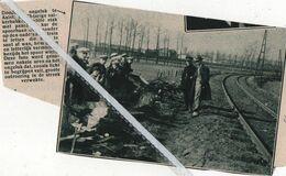 AALST..1932..SUIKERBAKKER DELILLE STAK MET PAARD EN KAR DE SPOORWEG OVER EN WERD GEVAT DOOR DE TREIN - Old Paper