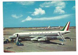 CLB006 - ROMA FIUMICINO AEROPORTO LEONARDO DA VINCI ALITALIA AEREO AIRPLANE 1970 CIRCA - Fiumicino
