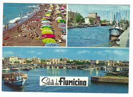 CLB007 - SALUTI DA FIUMICINO 3 VEDUTE 1970 CIRCA - Fiumicino