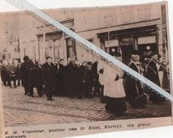ST.ELOOI- KORTRIJK..1937.. E.H. VRAMBOUT PASTOOR TEN GRAVE GEDRAGEN - Old Paper