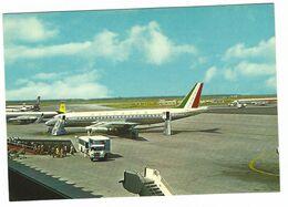 CLB009 - ROMA FIUMICINO AEROPORTO INTERCONTINENTALE LEONARDO DA VINCI 1970 CIRCA ALITALIA AIRPLANE AEREO - Fiumicino