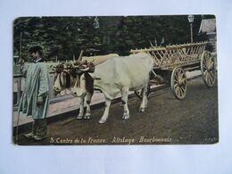 CPA  Centre De La France Attelage Bourbonnais  Attelage Avec Boeuf 1908  TBE - Paysans