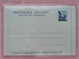 REPUBBLICA - Biglietto Postale Quadriga E Campidoglio 1951 - Nuovo E Integro + Spese Postali - 6. 1946-.. Republic