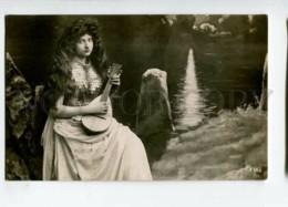 3113915 NYMPH MERMAID W/ MANDOLIN Long Hair Vintage PHOTO PC - Fairy Tales, Popular Stories & Legends