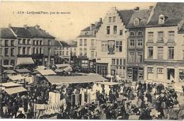 Ath NA42: La Grand'Place, Jour De Marché 1928 - Ath