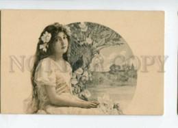 3114809 NYMPH Mermaid W/ Water Lily ART NOUVEAU Vintage PC - Illustrators & Photographers