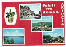 CLB048 -  SALUTI CON IL VINO DI ARICCIA ROMA 4 VEDUTE 1970 CIRCA - Other Cities