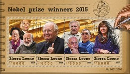 Sierra Leone 2015. [srl15613] Nobel Prize (s\s+bl) - Nobelpreisträger
