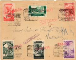 Marruecos. Frontal Certificado Circulado En Tetuán, Año 1937. - Maroc Espagnol
