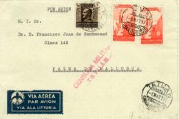 Marruecos. Frontal Circulado De Tetuán A Palma De Mallorca. Año 1937. - Maroc Espagnol
