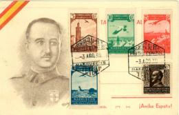 Marruecos. Tarjeta Ilustrada Con La Imagen De Franco. No Circulada. - Maroc Espagnol