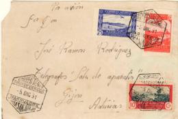 Marruecos. Frontal Circulado A Gijón, El Año 1951. - Maroc Espagnol