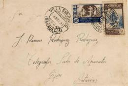 Marruecos. Carta De Villa Sanjurjo A Gijón. Año 1951. - Maroc Espagnol