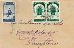 Marruecos. Frontal De Alcazarquivir A Pamplona. Año 1938. - Maroc Espagnol