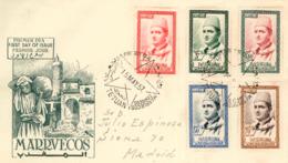 Marruecos. Carta Con Matasellos 1er. Día, No Circulada. Año 1957 - Maroc Espagnol