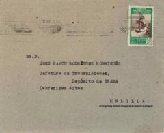 Marruecos. Carta De Tetuán A Melilla. - Maroc Espagnol