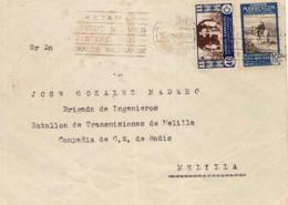 Marruecos. Carta De Villa Sanjurjo A Melilla. Año 1950. - Maroc Espagnol