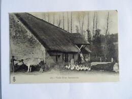 CPA  03 , Vieille Ferme Bourbonnaise  Vache Et Oie  TBE - France