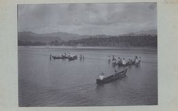 REAL PHOTOGRAPHIC SOUTHEAST ASIAN? VIEW, HANDMADE BY A TRAVELLER ~ ETHNIC PEOPLE IN RIVER BOATS - Non Classés