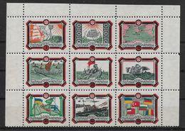 Ukraine 1953 Black Sea Series, Ukraine Underground Post, Black & Red Frame Block, Full Set In Corner Block, VF MNH** - Oekraïne