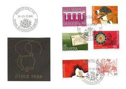 """113 - 14 - Enveloppe Avec Oblit Spéciale """"OLMA St Gallen 1984"""" - Marcophilie"""