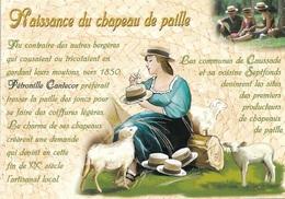 82 - CAUSSADE - HISTORIQUE DE LA NAISSANCE DU CHAPEAU DE PAILLE - CPM - VIERGE - - Caussade