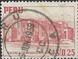 PERU 1952 Engineer's School - 25c - Red FU - Peru