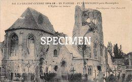 L'Eglise En Ruines 1914-16 -  Elverdinge - Ieper