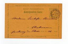 !!! POSTES LOCALES DE MULHOUSE, ENTIER POSTAL DU 4/6/1898 POUR MULHOUSE - Alsace-Lorraine