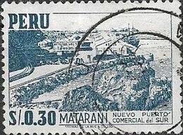 PERU 1952 View Of Matarani -  30c - Blue FU - Peru