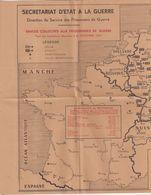 GUERRE : 1941/42 . Carte Du Secrétariat D'état à La Guerre . MONTRANT LES EMPLACEMENTS DE OFLAGS , STALAGAGS - Documents Historiques